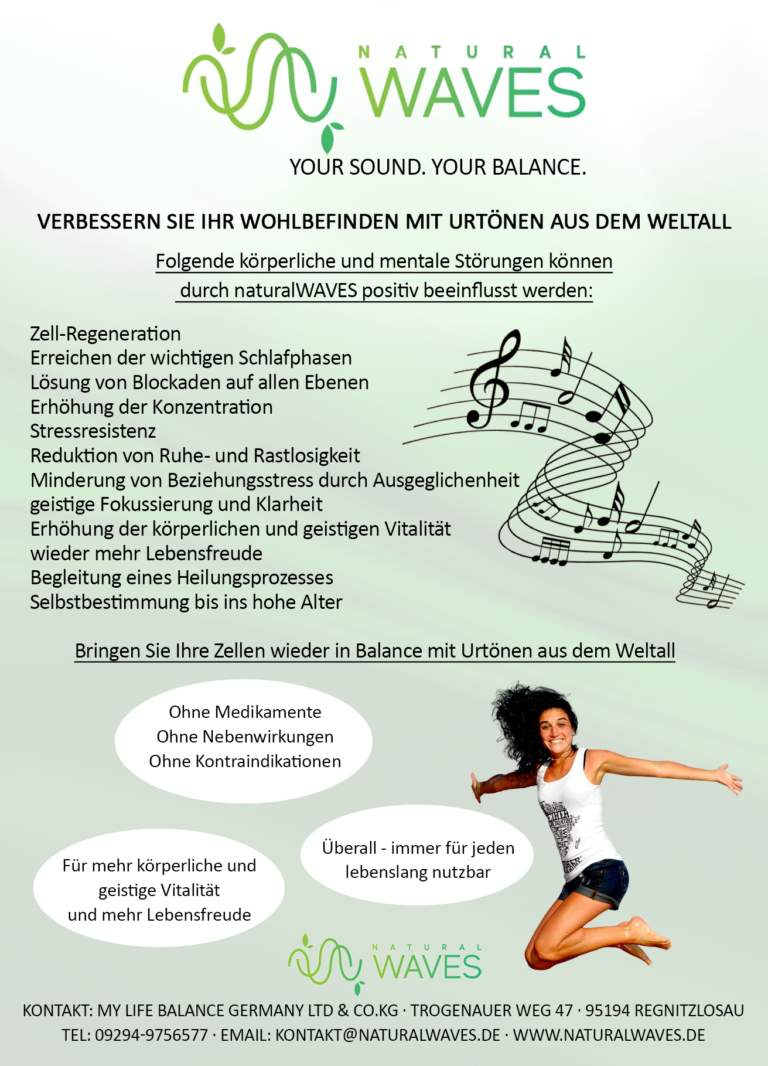 Flyer NaturalWaves Rückseite
